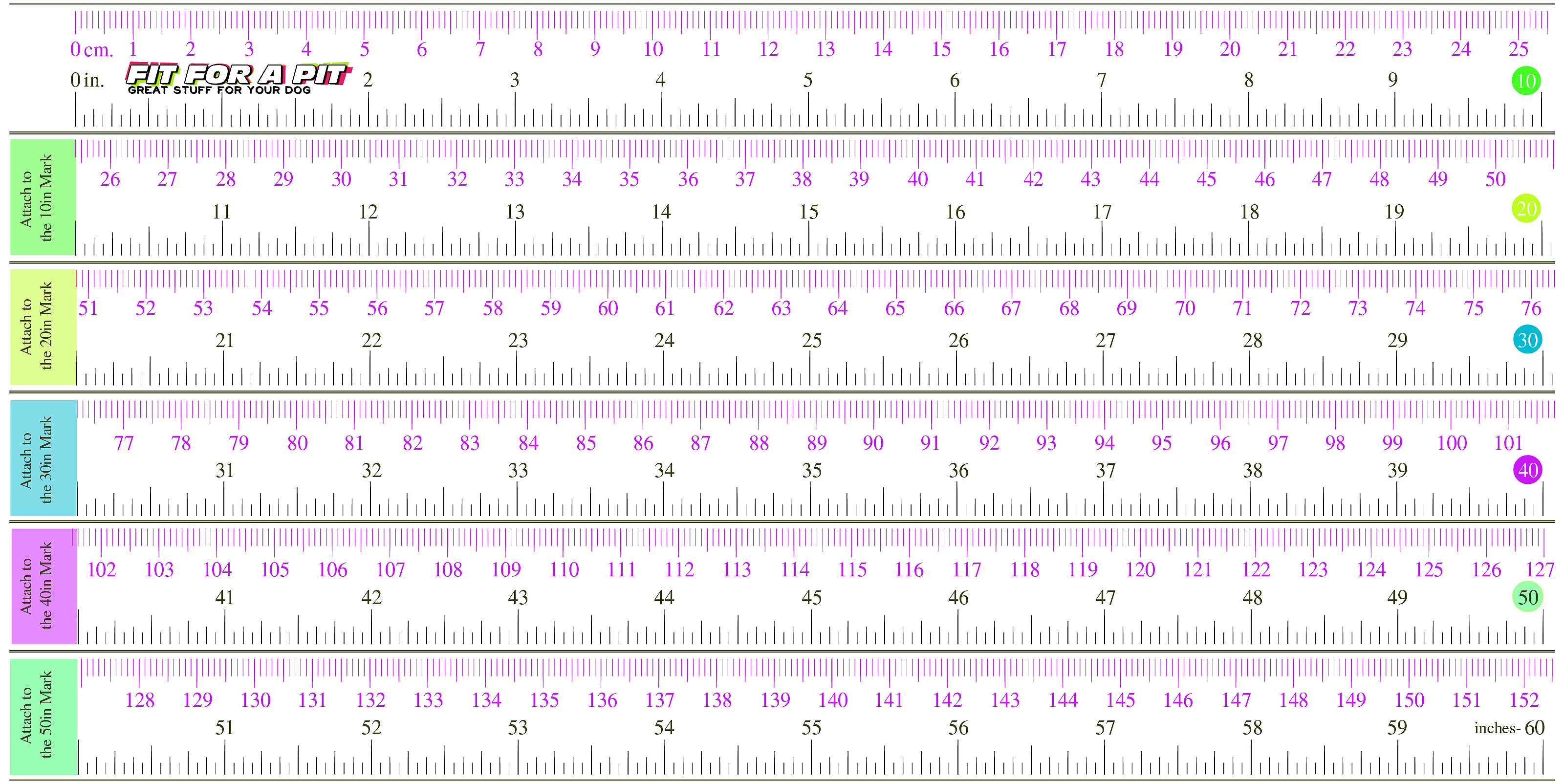 image relating to Printable Measurement referred to as Match for a Pit Printable Measuring Tape